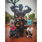 malaysia's bodybuilder legend statue